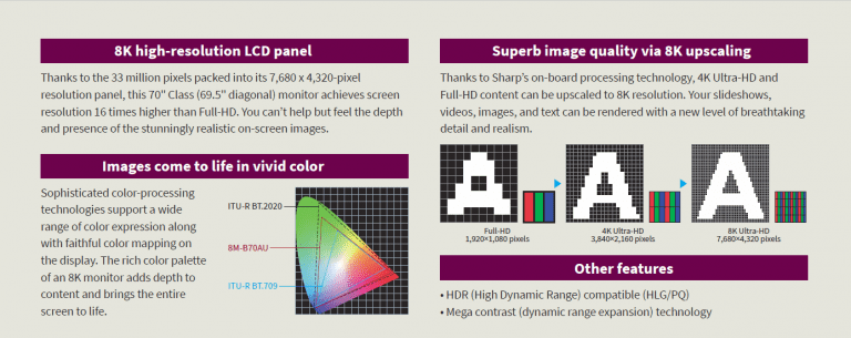 The Overwhelming Realism of 8K on a 70-inch Display