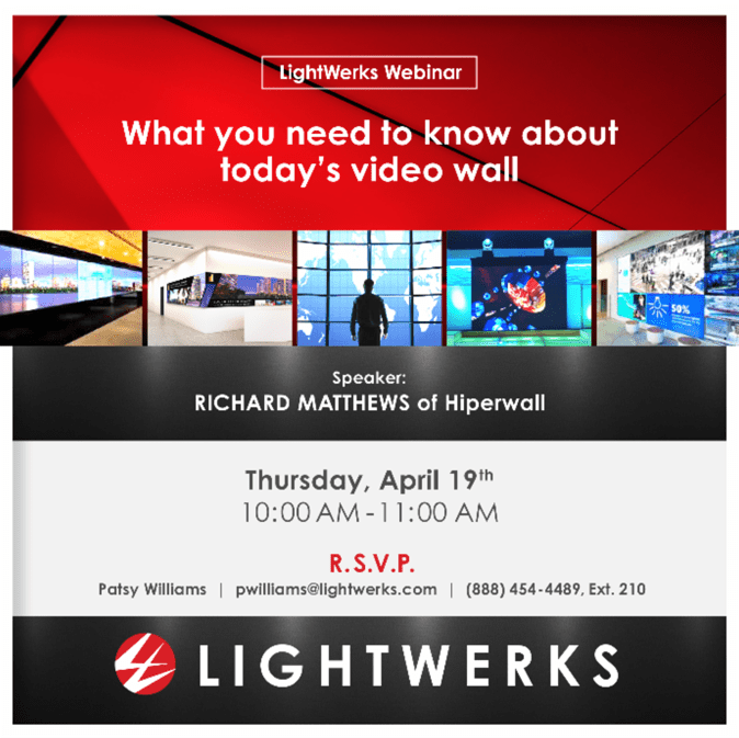 video wall webinar by LightWerks