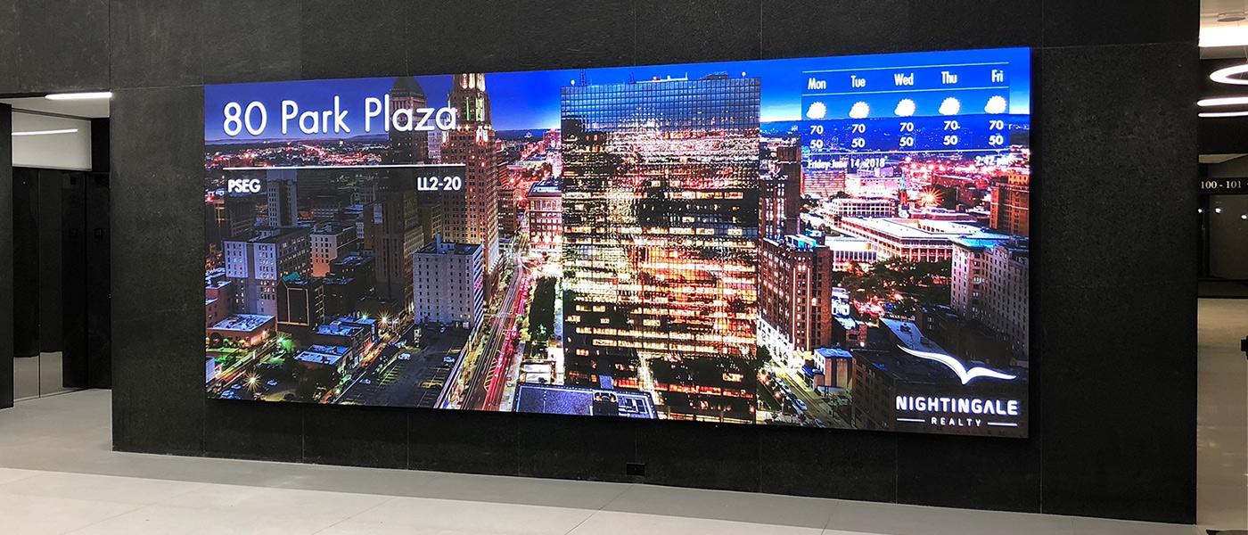 80 Park Place – Newark – LED wall